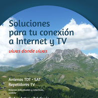 Instalamos internet y TV en zonas rurales